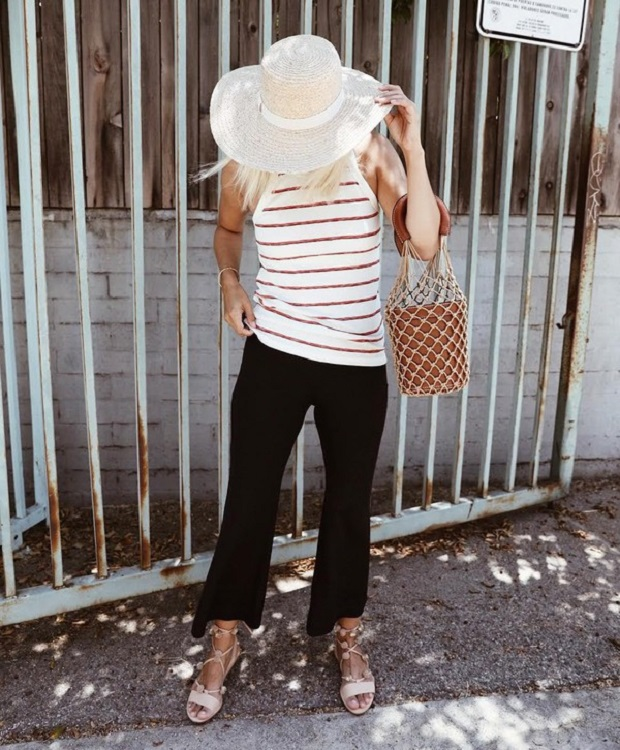 bucket bag staud street style