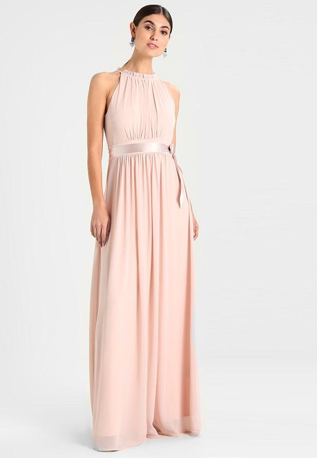 Vestidos largos color rosa claro